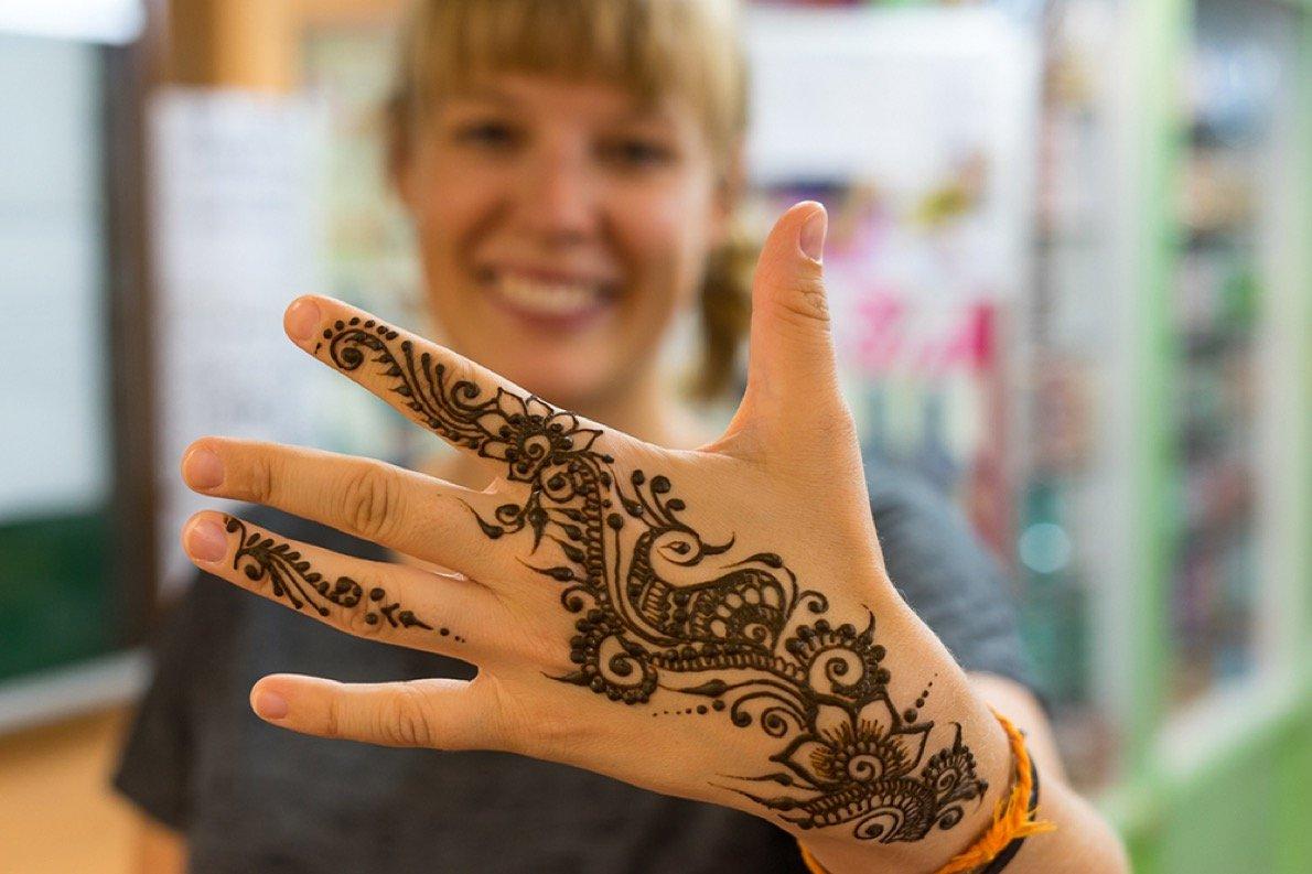 Jenny's first henna tattoo
