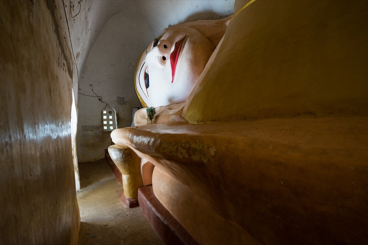 Manuha Temple - reclining Buddha