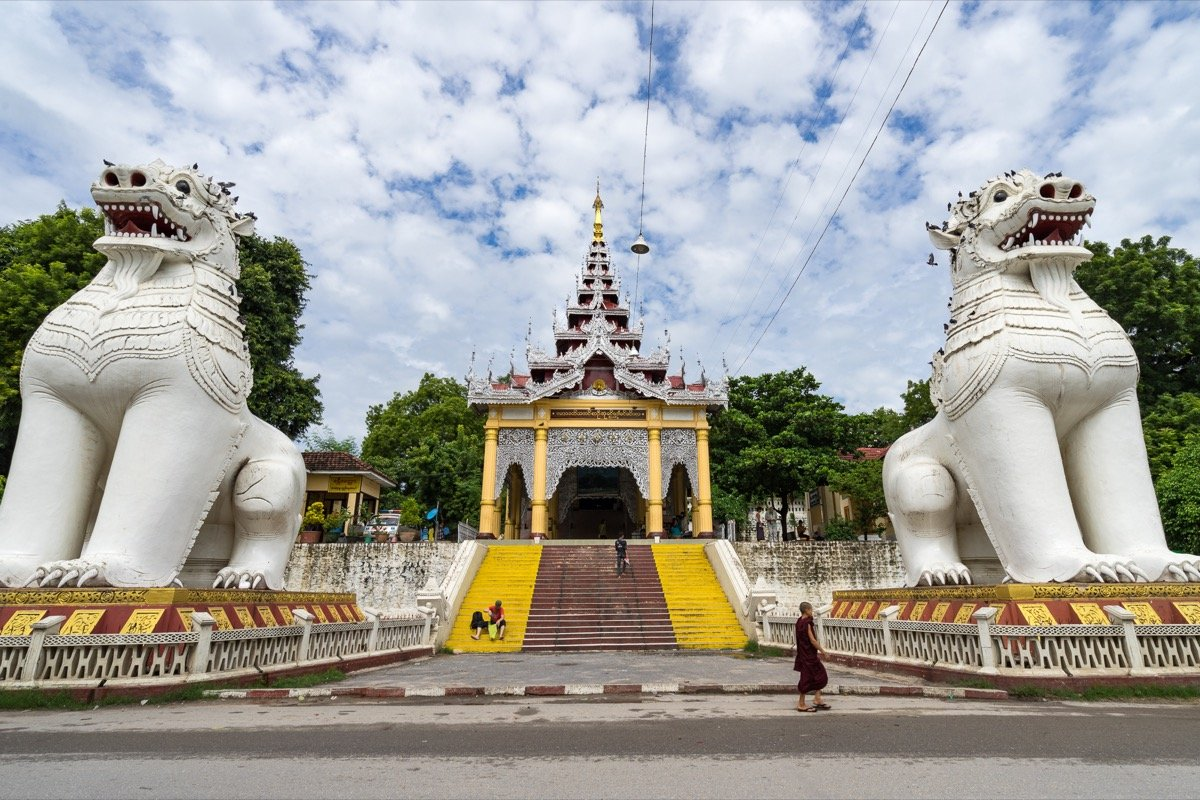 The gateway to Mandalay Hill