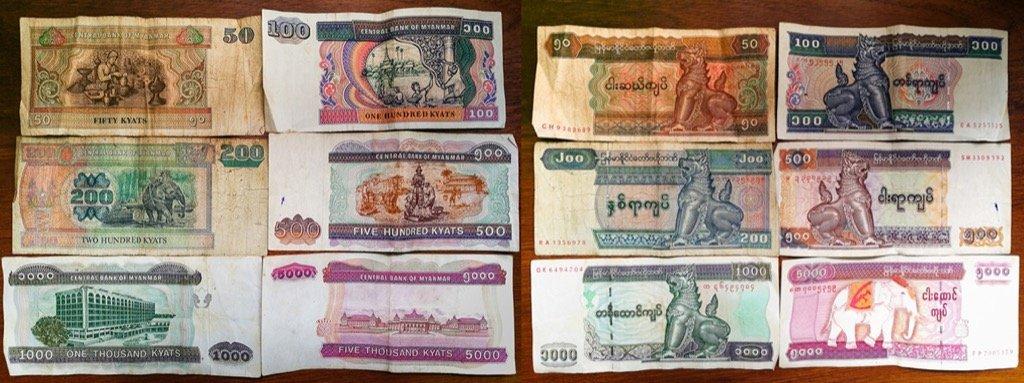 Banknotes in Myanmar