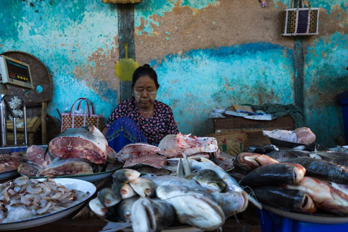 Market in Nyaung U, Bagan