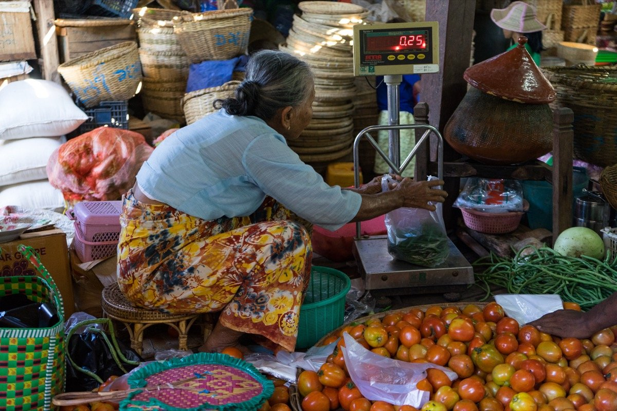 Market in Nyaung U, BaganMarket in Nyaung U, Bagan