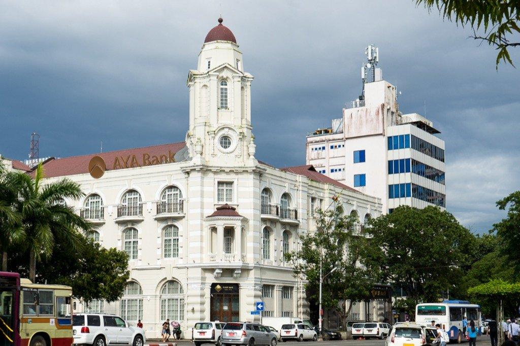 Yangon, restored colonial buildings