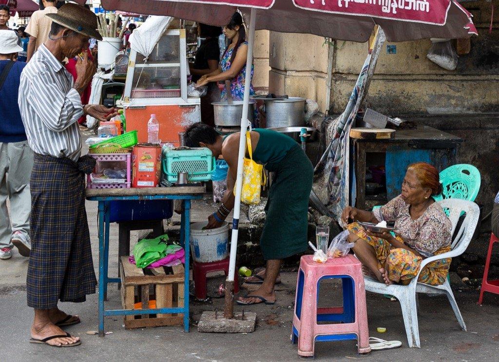 Yangon, food stall