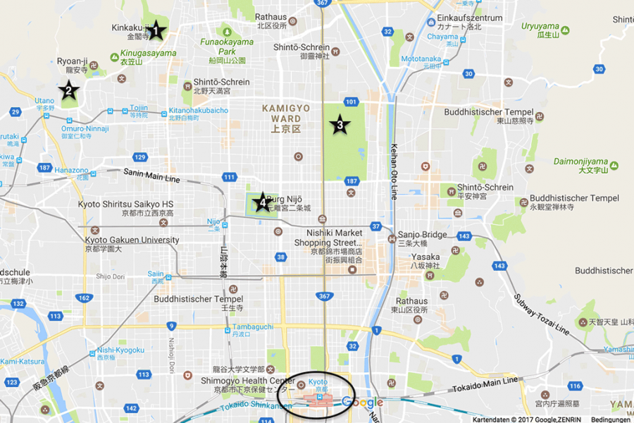Kyoto 4 day itinerary Best places to visit Map