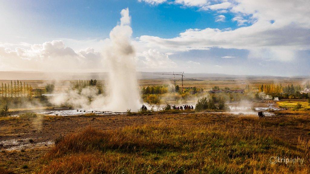 The Great Geysir erupting