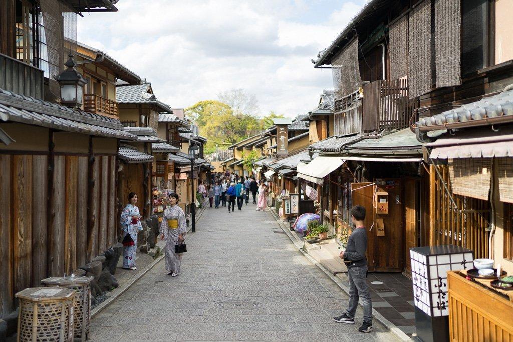 Higashiyama, Kyoto's old town.