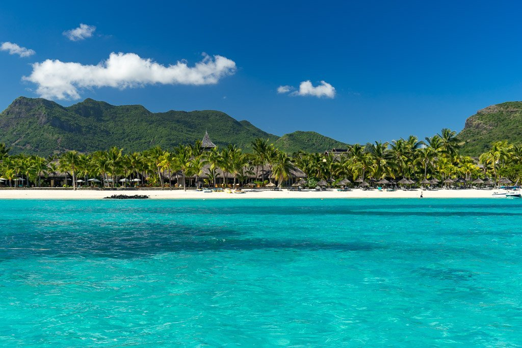 The beach of Le Morne