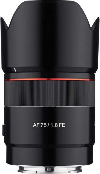 Samyang AF 75 mm, f1.8, Sony E-Mount