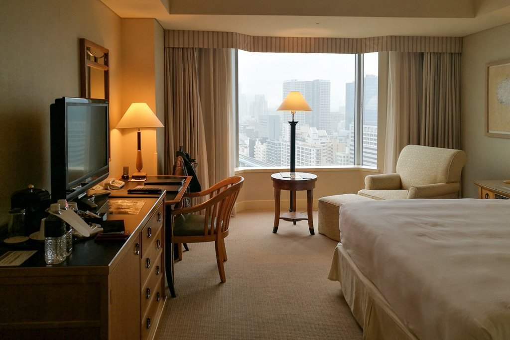 Room at the 17th floor of the Intercontinental Tokyo Bay Hotel