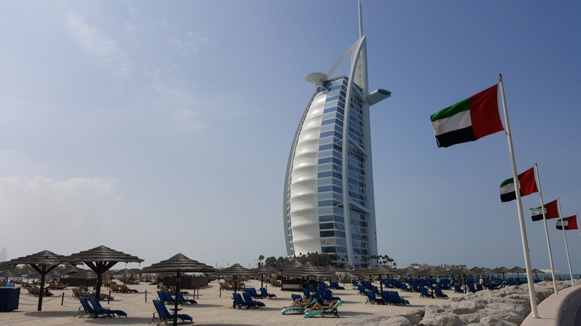 The Burj al Arab in Dubai
