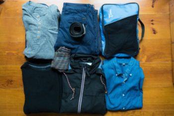 Packing list clothes for a city trip