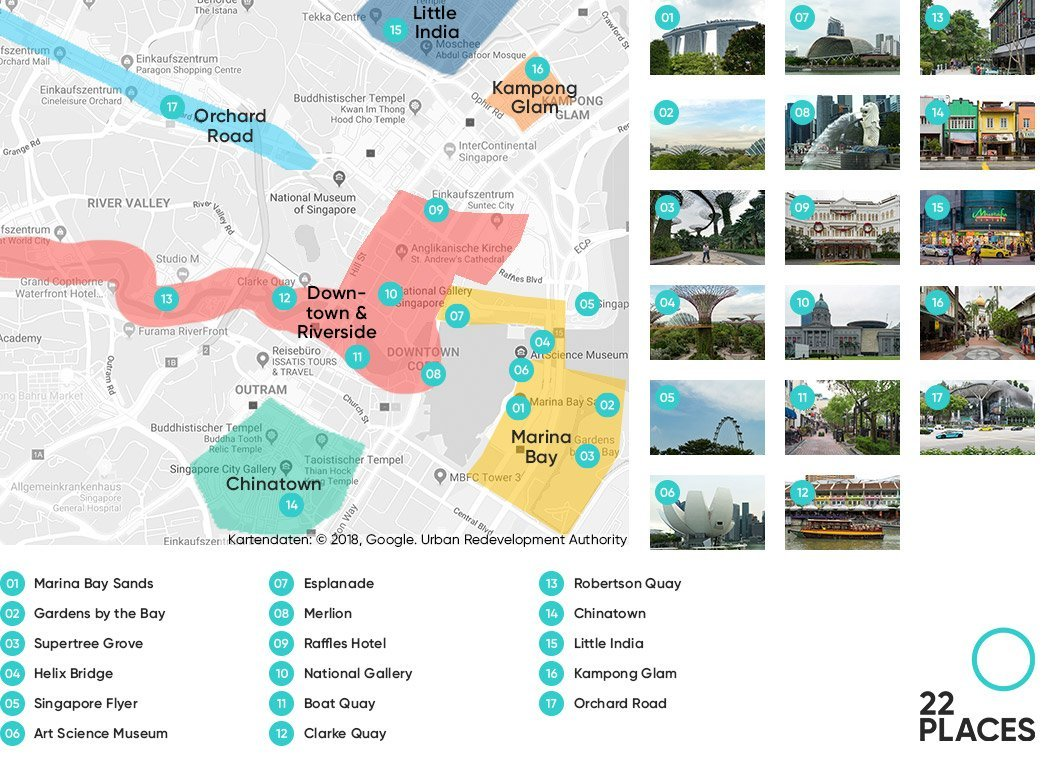 Singapore Sightseeing Map