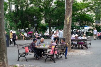 The Columbus Park in Chinatown