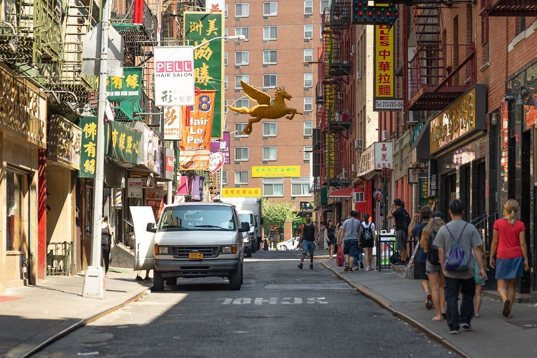 The Pell Street in Chinatown