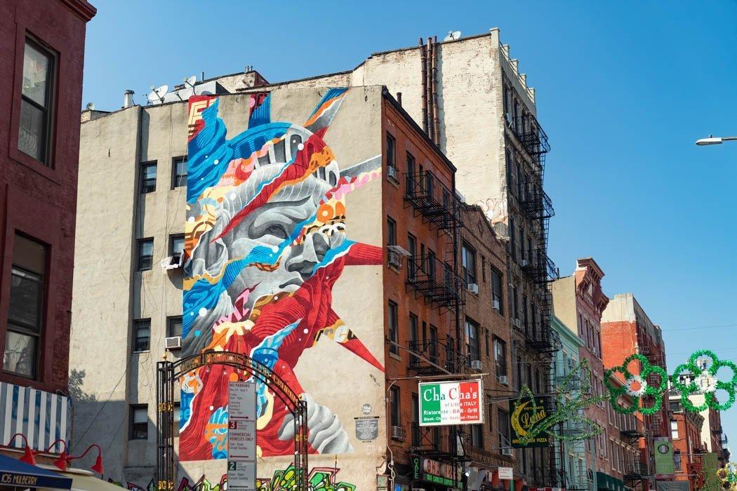 Street art in Mulberry Street