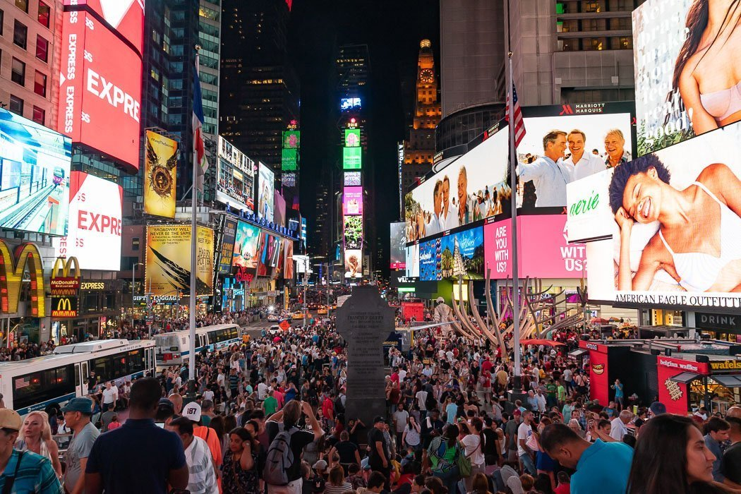 The Times Square in New York