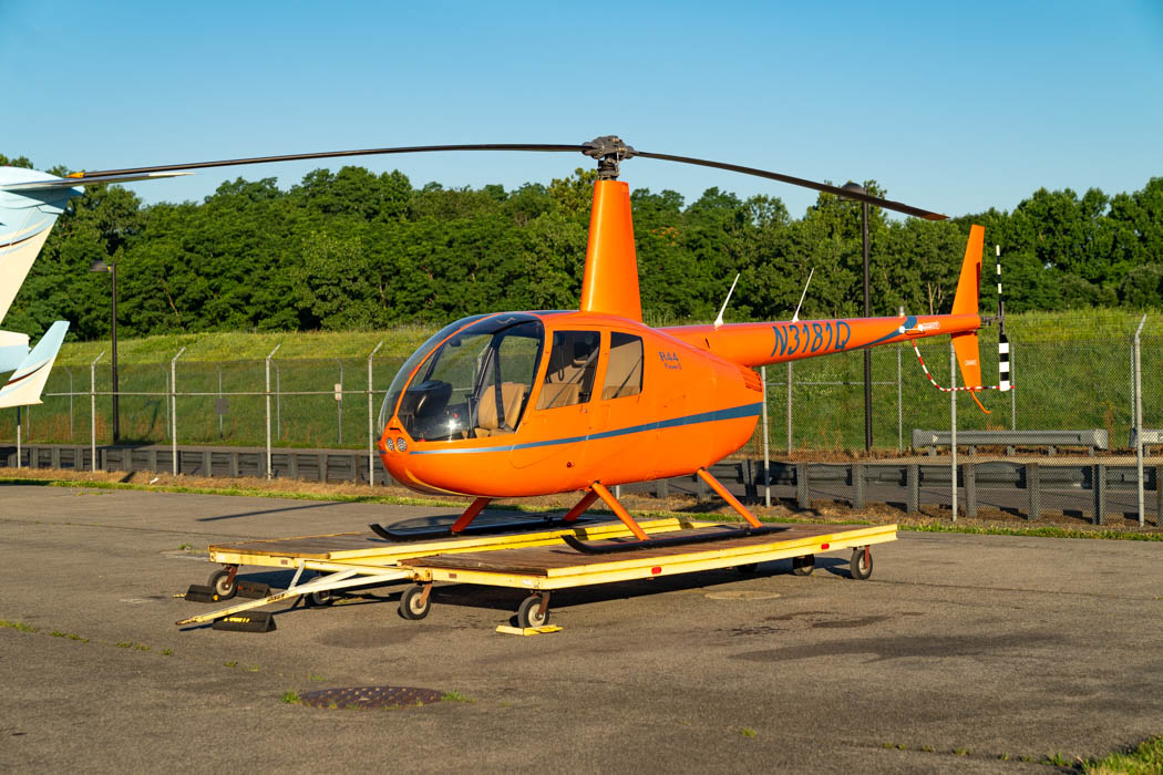 Our helicopter for our New York sightseeing flight.