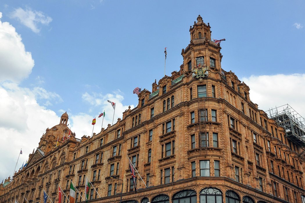 Photo of the Historic Harrods department store in London