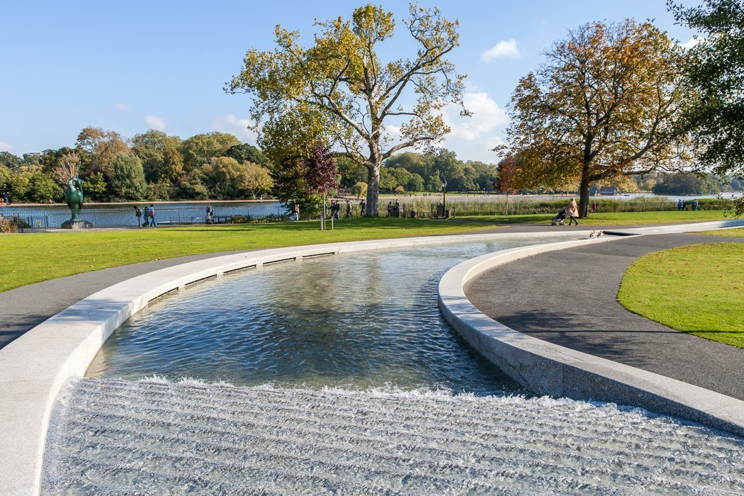The Memorial Fountain for Princess Diana in Hyde Park