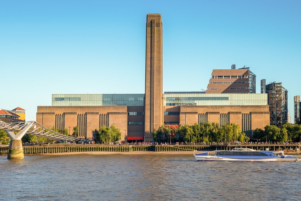 Photo of Tate Modern Museum in London, located on the River Thames